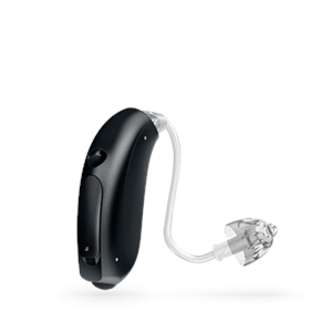 Oticon Nera Ria Alta Mini hinter dem Ohr Hörgerät in der Farbe Diamond Black