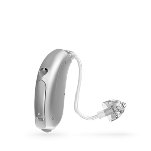 Oticon Nera Ria Alta Mini hinter dem Ohr Hörgerät in der Farbe Silver Grey