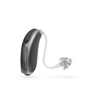 Oticon Nera Ria Alta Mini hinter dem Ohr Hörgerät in der Farbe Steel Grey