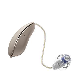 Oticon Nera Ria Alta Mini Design hinter dem Ohr Hörgerät in der Farbe Chroma Beige