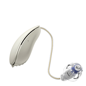 Oticon Nera Ria Alta Mini Design hinter dem Ohr Hörgerät in der Farbe Mother Of Pearl