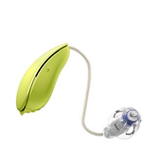 Oticon Nera Ria Alta Mini Design hinter dem Ohr Hörgerät in der Farbe Pale Lime