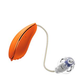 Oticon Nera Ria Alta Mini Design hinter dem Ohr Hörgerät in der Farbe Sunset Orange