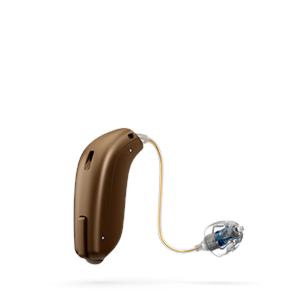 Das Oticon Opn Ex-Hoerer Hörgerät in ChestnutBrown
