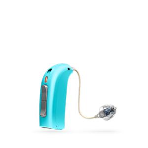 Oticon Sensei Ex-Hörer hinter dem Ohr Hörgerät in Aquamarine