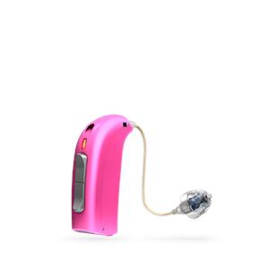 Oticon Sensei Ex-Hörer hinter dem Ohr Hörgerät in PowerPink