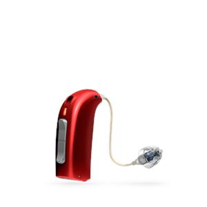 Oticon Sensei Ex-Hörer hinter dem Ohr Hörgerät in Red