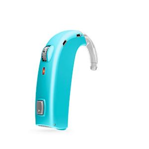 Oticon Sensei-SuperPower Standard hinter dem Ohr Hörgerät in Aquamarine