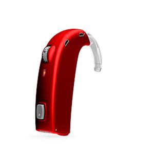 Oticon Sensei-SuperPower Standard hinter dem Ohr Hörgerät in Red