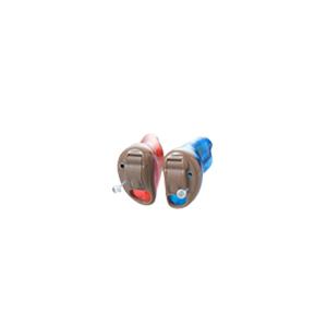 Das Starkey Z-Series als IC-Hörgerät in den Farben Blau und Rot