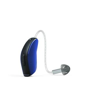 Das ReSound LiNX als Ex-Hörer in der Farbe Ozean-Blau